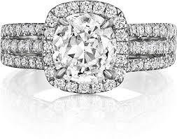 bjs wedding rings henri daussi row diamond engagement ring atr