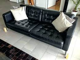 ikea black leather sofa ikea white leather sofa custom leather cover slipcover on ikea white