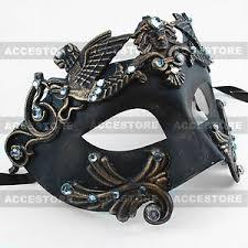 mens venetian mask black gold emperor men s masquerade mardi gras