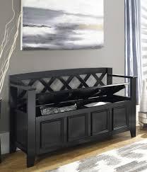 furniture storage bench short split seat storage veneer walnut
