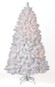 shimmering white prelit tree market flocked