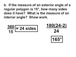 How Many Interior Angles Does A Pentagon Have 2 8 What If It Is An Exterior Angle Pg 26 Exterior Angles Of A