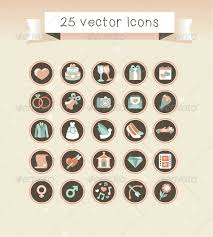 Free Wedding Websites With Music 25 Vector Wedding Icons In Retro Style Web Design Stuff For