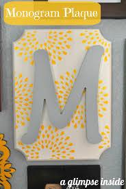 a glimpse inside monogram plaque