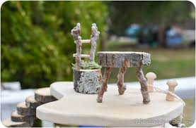 Garden Art Furniture - diy project how to make fairy furniture