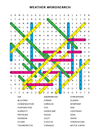 weather word search puzzle