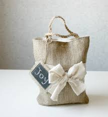 burlap gift bags rustic burlap reusable gift bag eco friendly lunch