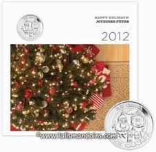 canada 2012 6 coin mint gift set with tree