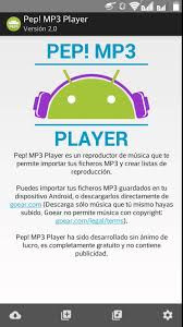 mp3 apk descargar musica gratis con pep mp3 para android apk actualizable