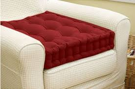 Booster Cusion Plain Chunky Garden Dining Chair Armchair Booster Cushion