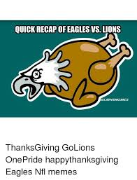 recap of eagles vs lions thanksgiving golions onepride