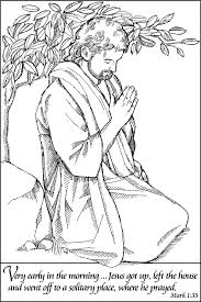 jesus praying u2013 coloring page coloring pages for jesus praying in