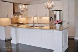 Kitchen Island Building Plans Diy Kitchen Island Makeover Glam Living