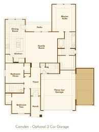 3 car garage floor plans new home floorplan camden in northlake tx 76226