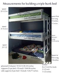 Free Bunk Bed Plans 2x4 by Chic Triple Bunk Bed Oregonoutrage Also Beds Tikspor