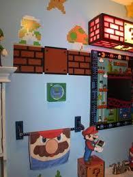 chambre mario mario bros jeu chambre decor enfants autocollant amovible