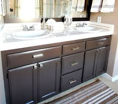Repainting Bathroom Cabinets How To Paint Oak Bathroom Cabinets Black Nrtradiant Com