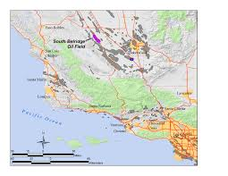 Paso Robles Map Oil Fields In California Map California Map
