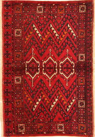 Red Area Rug by Afghan Kunduz Red Rectangle 3x5 Ft Wool Carpet 29871