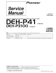 pioneer deh p390mp wiring diagram diagram wiring diagrams for
