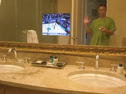 Bathroom Mirror With Tv by Bathroom Tv Behind Mirror 2016 Bathroom Ideas U0026 Designs