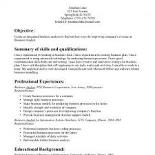 Business Analyst Resume Samples by Financial Analyst Resume Example Financial Analyst Resume Samples