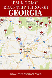 Georgia State Map by Top 15 Georgia State Parks For Glorious Fall Color