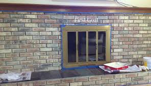 a fireplace update u2013 whitewashing the brick painting the brass