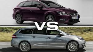 peugeot 308 touring 2017 seat leon st vs 2018 peugeot 308 sw youtube