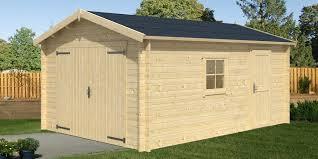 abris de jardin en solde garage en bois samoa 19 m2 madrier 40 mm pas cher a acheter dans
