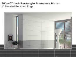 Beveled Bathroom Mirrors by Amazon Com 30