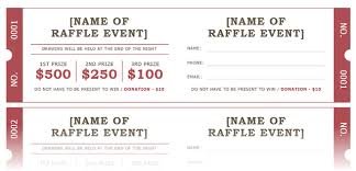 raffle ticket template large raffle ticket template 1 4 up