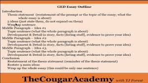 Five Paragraph Essay Outline Example How To Pass The Ged Writing Test Video 3 How To Write A Five