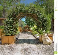 natural arbor archway trellis stock image image 65397657