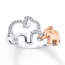 kay jewelers charmed memories kay diamond elephant ring 1 15 carat tw sterling silver 10k gold