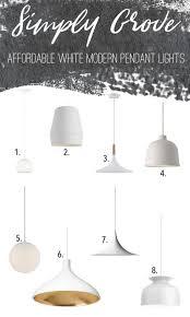 White Pendant Lights Affordable Black U0026 White Pendant Lights Simply Grove