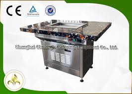 sit around grill table marble table top small mobile commercial hibachi grill for outdoor