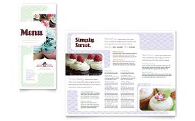 menu publisher template bakery cupcake shop menu template word publisher