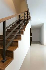 superb stair railings interior modern wood and iron stairway hand