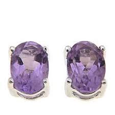 amethyst stud earrings amethyst earrings hsn
