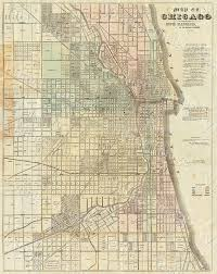 Il Map Vintage Map Of Chicago 1857 Chicago Illinois Map Antique