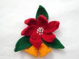 christmas ideas crochet gold bells and poinsettia pattern craft