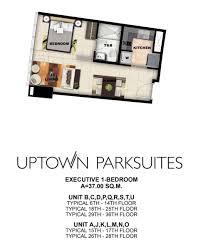 uptown parksuites floor plans