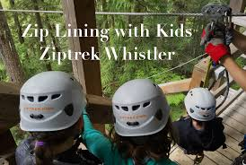 zip lining with kids ziptrek whistler pint size pilot family