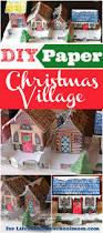 diy paper christmas village