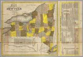 Maps Of New York State by State Of New York David Rumsey Historical Map Collection