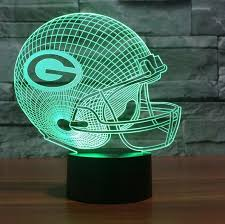green bay packers lights nfl green bay packers 3d led light lamp tshirtnow