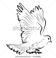 sketch shape dove bird poultry beast stock vector 474333454