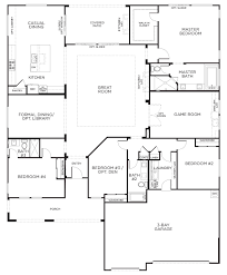 One Storey House Plans | love this layout with extra rooms single story floor plans one