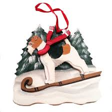 wire haired fox terrier dog christmas ornaments u2013 for the love